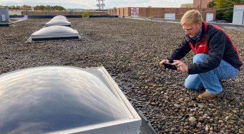 Our Roof inspection technicians take images of your roof to show you the quality