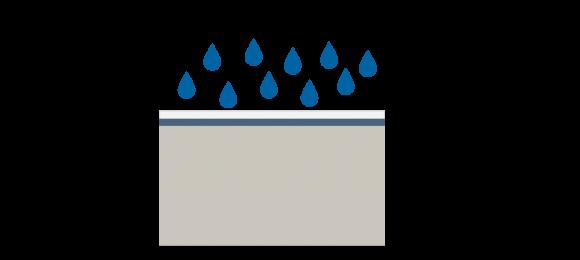 SPF roofing system illustration