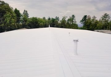 Refinished metal roof